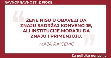 Maja Raicevic Zene nisu u obavezi